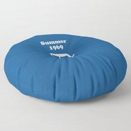 Summer 1969 - blue Floor Pillow