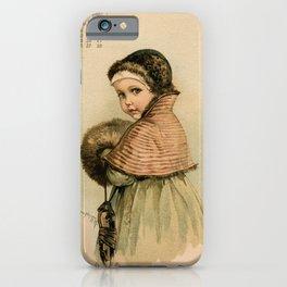 Scandinavian Girl Maud Humphrey iPhone Case