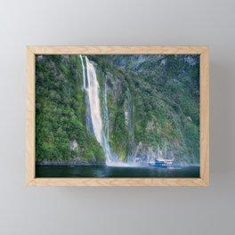 Stirling Falls at Milford Sound Framed Mini Art Print