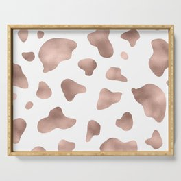 Rose gold cow print Serving Tray