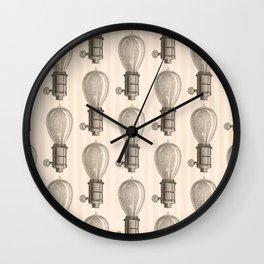 Vintage Light Bulbs Neck Gator Pencil Drawing Light Bulb Wall Clock