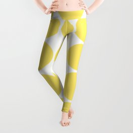 Summer Yellow Circles Leggings