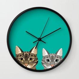 Two Kitties Wall Clock