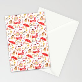 sea pettern Stationery Cards