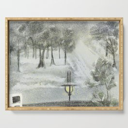 Snow day 2020 Serving Tray