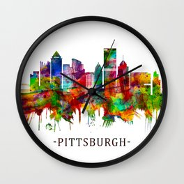 Pittsburgh Pennsylvania Skyline Wall Clock
