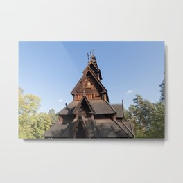 Norsk Folkemuseum - Stave Church Metal Print