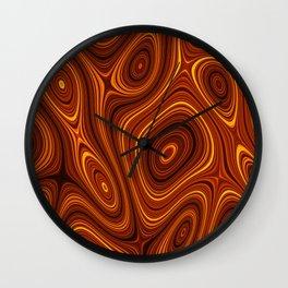 Amber Lava 2 Hi Res Wall Clock