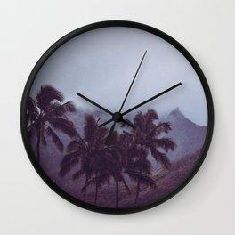 Misty Mountains - Kauai, Hawaii Wall Clock