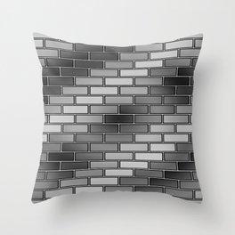 BRICK WALL #2 (Grays) Throw Pillow