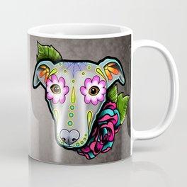 Greyhound - Whippet - Day of the Dead Sugar Skull Dog Coffee Mug