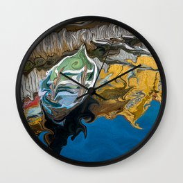 Norwegian Row Boat And Reflections Wall Clock