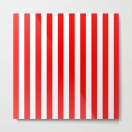 Vertical Stripes (Red & White Pattern) Metal Print