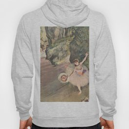 Dancer With A Bouquet Of Flowers The Star Of The Ballet By Edgar Degas | Reproduction | Famous Frenc Hoody