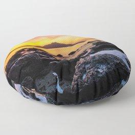 Rangitoto Island New Zealeand Floor Pillow