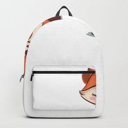 Fox Foxes Sleep Sleeping Watercolor Polygon Idea Backpack