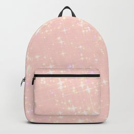 Abstract girly pastel pink elegant glam glitter Backpack