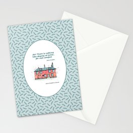 Jane Austen house and quote Stationery Cards
