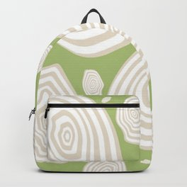 Green Moss Wood Chip Backpack