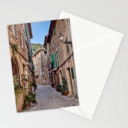 Narrow street in Valldemossa village - Mallorca, Spain Stationery Cards