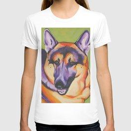 German Shepard Pop Art Pet Portrait T-shirt
