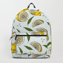Blue Lemonade Pattern Backpack