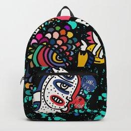 Mostrini in the Space Graffiti Street Art  Backpack