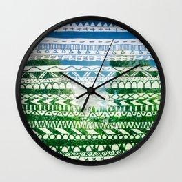 Hipstapattern Wall Clock