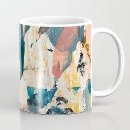 033.2: a vibrant abstract design in pink blue yellow an black Alyssa Hamilton Art Coffee Mug