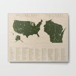US National Parks - Wisconsin Metal Print