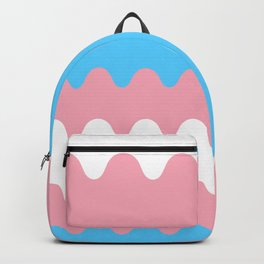 Wavy Trans Flag Backpack