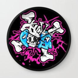 Skull Pops Wall Clock