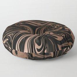 Black & Rose Gold Marble Floor Pillow