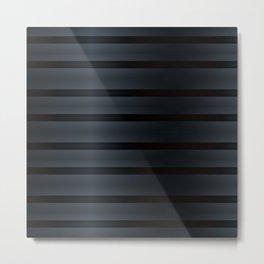 Black Silk Stripes Metal Print