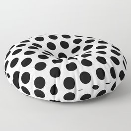 Black and White Polka Dots 771 Floor Pillow