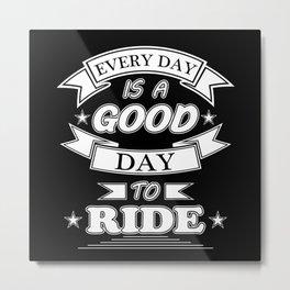 Motorcycle Biker Vintage Bike Funny Gift Idea Metal Print
