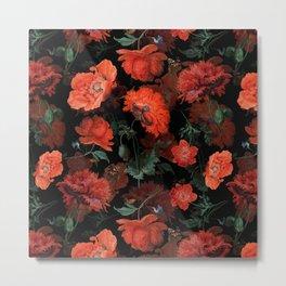 Jan Davidsz. de Heem Vintage Summer Poppies Flowers Night Botanical Garden Metal Print