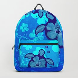 3 Blue Honu Turtles Backpack
