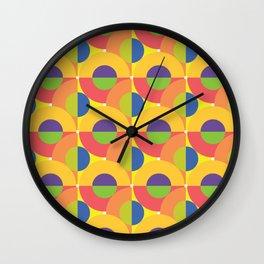 Moon and Sun Rainbow Wall Clock