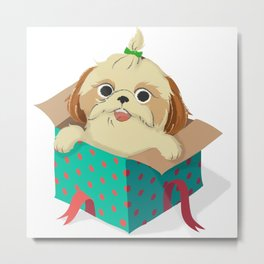 Little Dog Metal Print