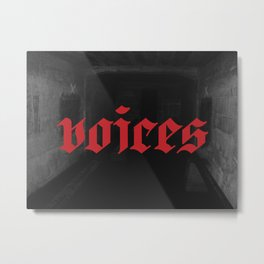 Voices In My Head Metal Print
