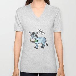 Sweet donkey kids comic donkey mule draft animal Muli Unisex V-Neck