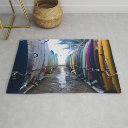 Surfboards at the Beach Rug