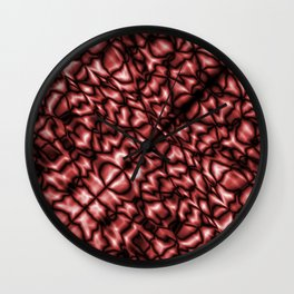Bacteriological symmetry of a blurred pattern of ruby streaks and drops in a puddle.  Wall Clock