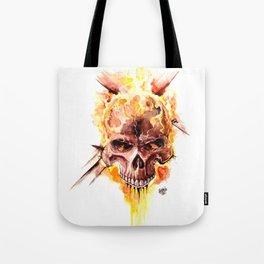 Ghost Rider Skull Tote Bag