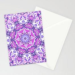 Purple Pink and White Mandala Stationery Cards