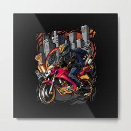 City Rider Metal Print