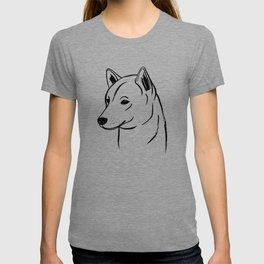 Shiba Inu (Black and White) T-shirt