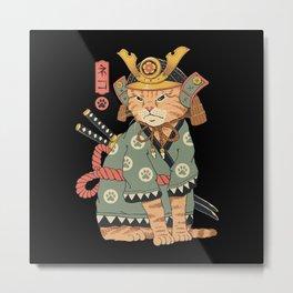 Neko Samurai Metal Print