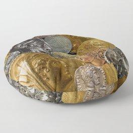Ancient Coins 2 Floor Pillow